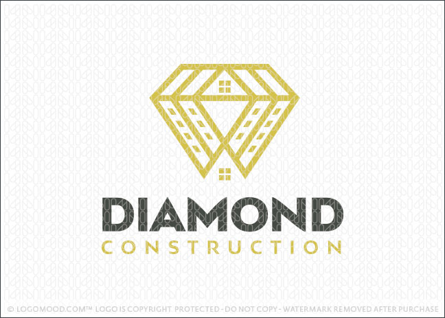 Diamond Building Contractor Construction Logo For Sale