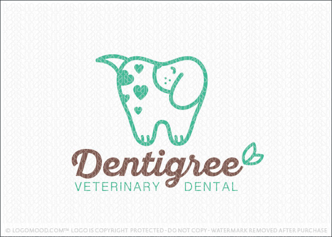Pet Dental Care Animal Tooth Cleaning Dentistry Logo For Sale
