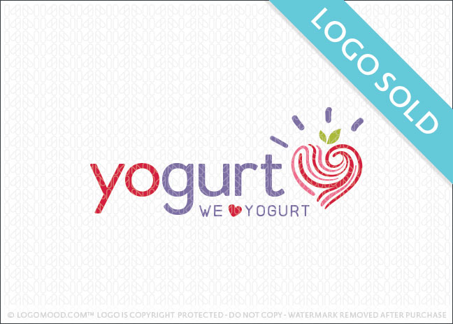 Yogurt Love Logo Sold