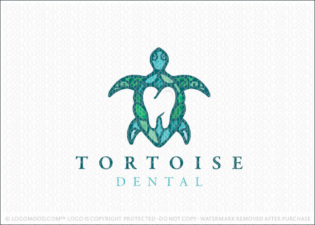 Ocean Sea Turtle Dental Practice Logo For Sale