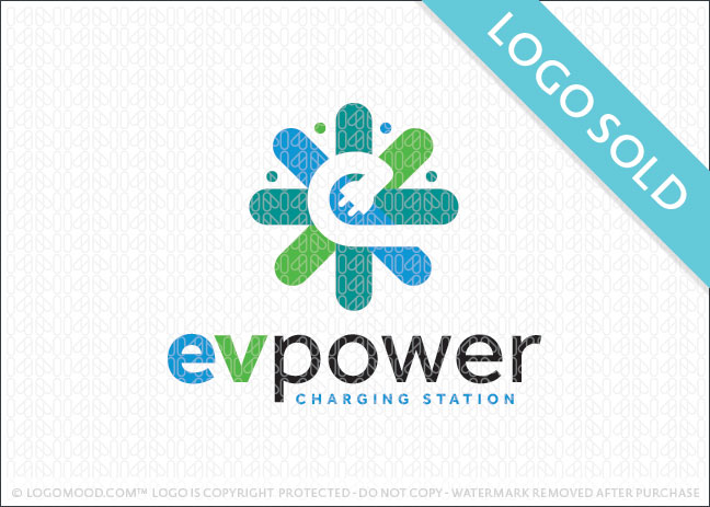 Electric Vehicle Power Logo Sold