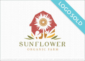 Sunflower Organic Farm Logo Sold