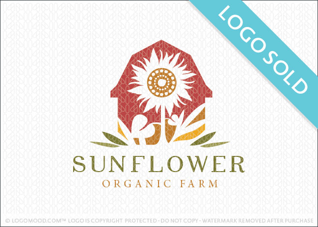 Sunflower Organic Farm Logo Sold