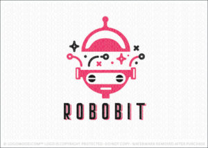 Robo Bit Robotic Robot Character Logo For Sale