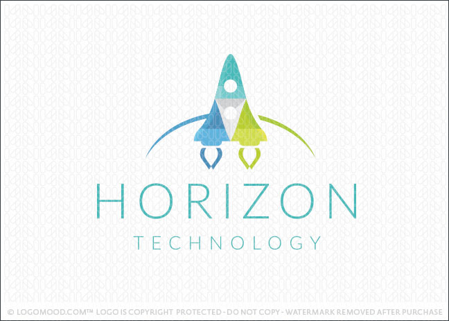 Modern Technology Space Rocket Logo For Sale