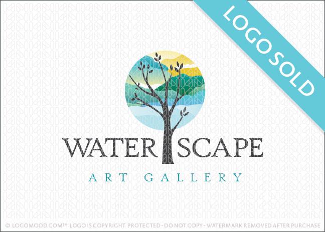 Waterscape Art Gallery Logo Sold