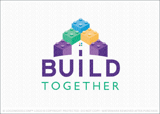 Lego Pieces Home Builder Logo For Sale