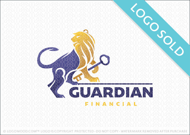 Guardian Key Lion Logo Sold