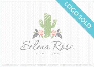 Selena Rose Cactus Logo Sold