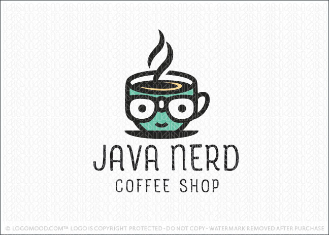 Java Nerd Coffee Logo For Sale