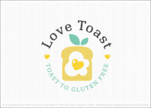 Love Toast Healthy Living Logo For Sale