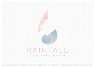 Rainfall Beauty Collagen Water Logo For Sale