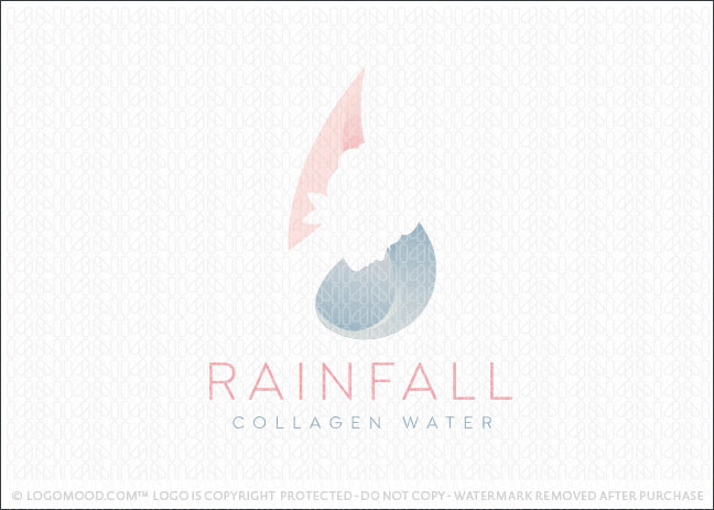 Rainfall Beauty Collagen Water Logo For Sale