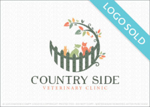 Country Side Veterinary Clinic Logo Sold