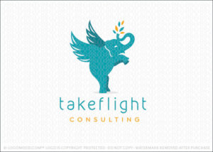 Take Flight Elephant Logo For Sale