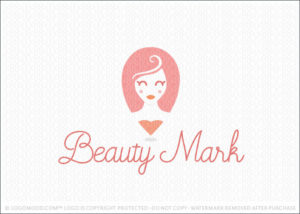 Woman Face Beauty Location finder Logo For Sale