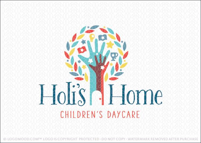 Holi's Home Daycare Logo For Sale