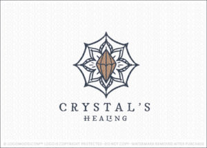 Mandala Natural Healing Crystal Logo For Sale