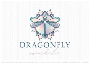 Dragon Fly Spiritual Holistic Person Figure Mandala Logo For Sale