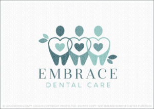 Embrace Dental Hearth Tooth People Logo For Sale