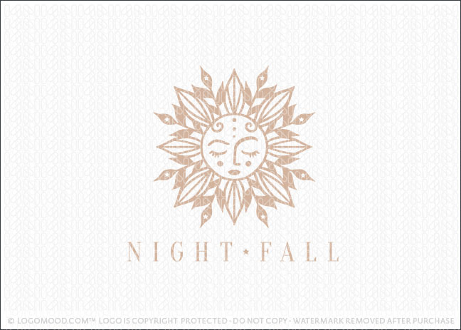 Natural Floral & Leaf Sun Logo For Sale