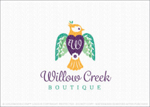Willow Tree And Dove Bird Logo For Sale