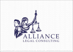 Lady Justice Law Firm Consulting Group Attorney Logo For Sale
