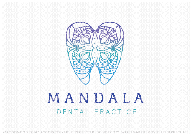 Mandala Dental Practice Logo Design For Sale