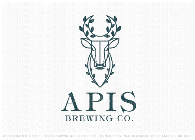 Natural Leaf Bull Brewing Logo For Sale