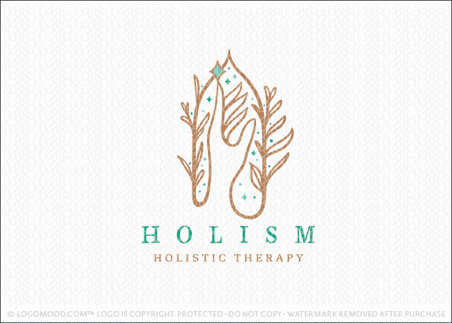 Holistic Healing And Spiritual Hand Logo For Sale
