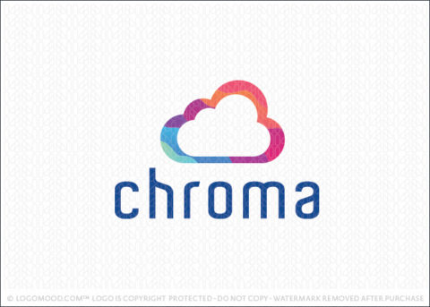 Colourful Rainbow Chroma Cloud Logo For Sale