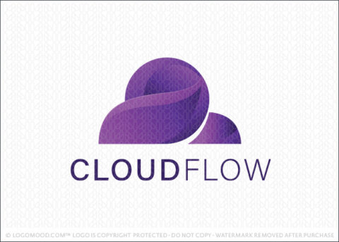 Abstract Technology Cloud Computing Logo For Sale