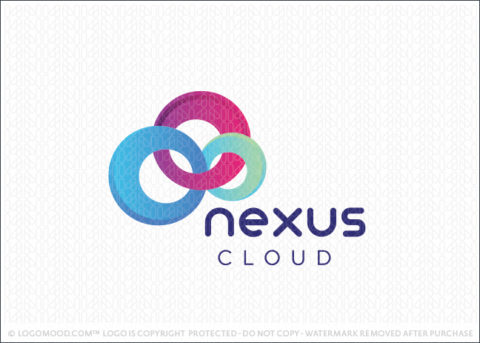 Abstract Cloud Link Chain Logo For Sale