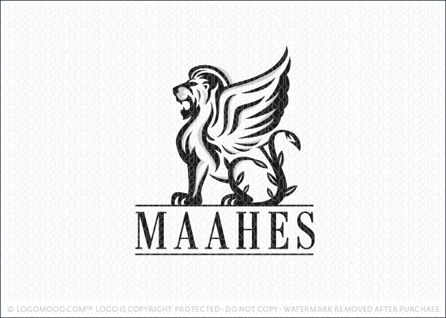 Winged Lion Logo For Sale