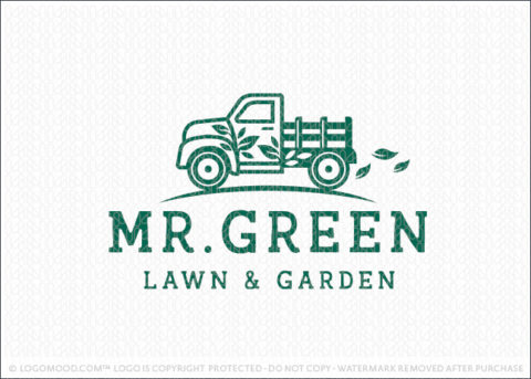 Mr Green Vintage Pickup Lawn And Garden Tuck Logo For Sale