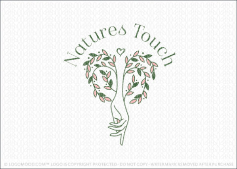 Natural Touch Hand Willow Tree Holistic Natural Health Logo For Sale