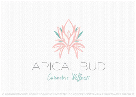 Female Aprical Bud Cannabis Plant Logo For Sale