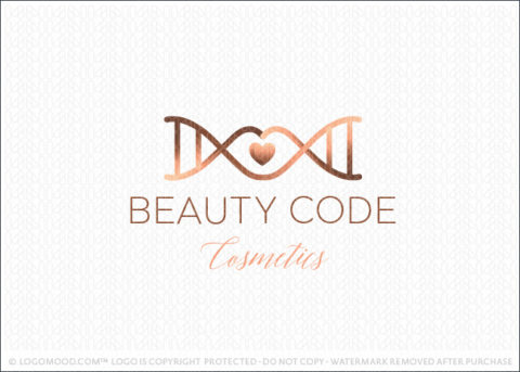 Beauty Code Cosmetic Lips And DNA Logo For Sale