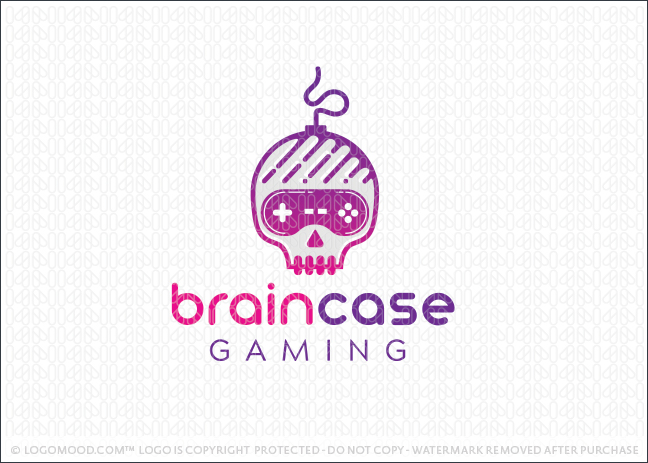 Brain Skull Video Game Controler Logo For Sale