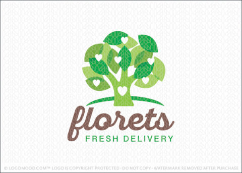 Florets Fresh Delivery Broccoli Tree Logo For Sale