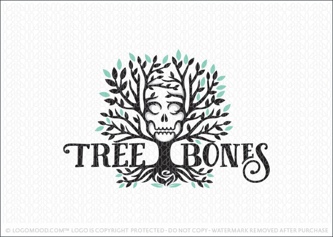 Tree Bones Logo For Sale
