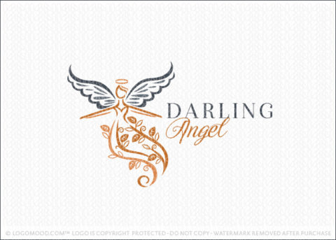 Darling Woman Angel Religious Logo For Sale