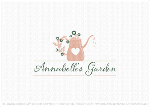 Floral Garden Watering Can Logo For Sale Logo Mood