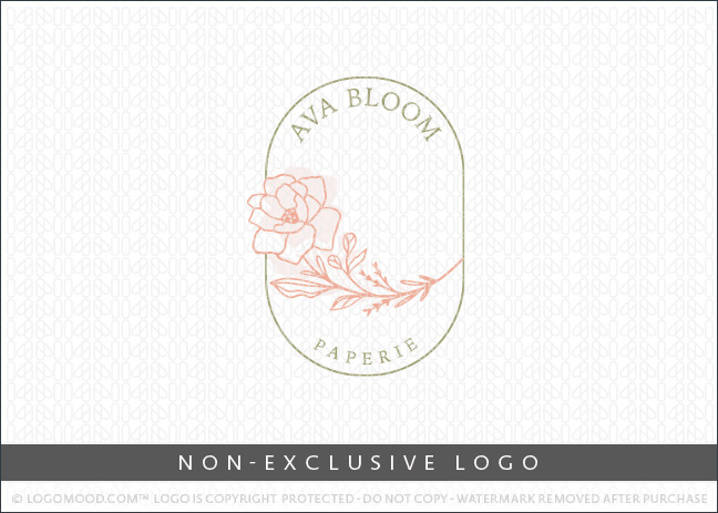 Ava Bloom Paperie Floral Rose – Non Exclusive Logo