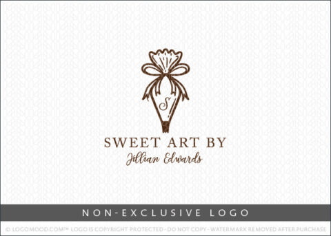 Bakery Pastry Bag Non-Exclusive Logo For Sale LogoMood