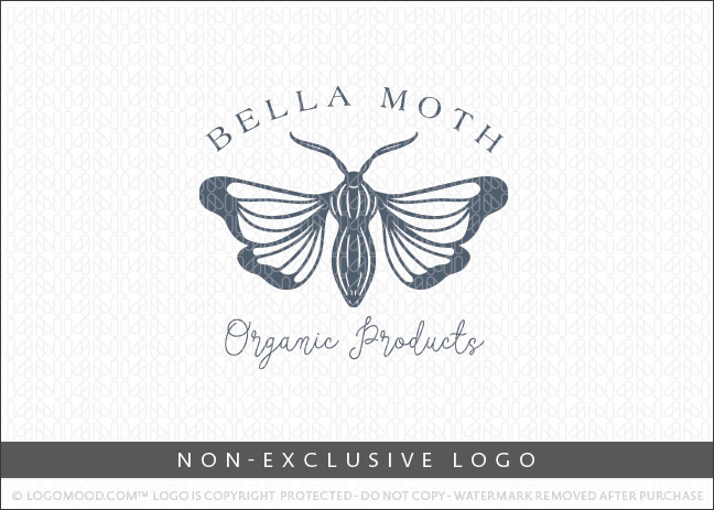 Bella Moth Organic Products Non-Exclusive Logo For Sale LogoMood