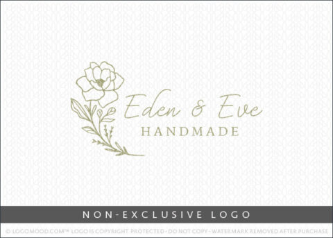 Eden & Eve Floral Botanical Flower Non-Exclusive Logo For Sale LogoMood