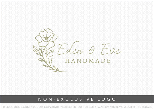 Eden & Eve Floral Botanical Flower – Non Exclusive Logo