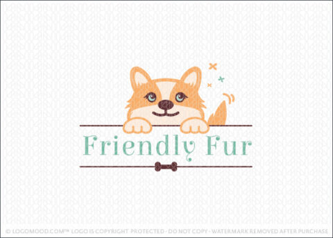 Cute Friendly Puppy Dog Character Logo For Sale By LogoMood