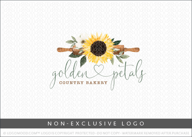 Sun Flower & Country Bakery Rolling Pin – Non Exclusive Logo